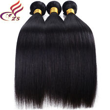3 Bundles Unprocessed Straight Virgin Brazilian Real Human Hair Extensions 150g