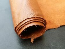 REED LEATHER HIDES - COW SKINS ORANGE COLOR 12 X 24 Inches 2 Square Foot