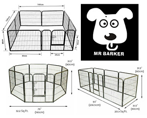 Extra Large Heavy Duty 8 Piece Puppy Dog Run Welping Pen Playpen UK Stock