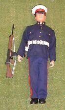Original VINTAGE ACTION MAN LOOSE British NO3 vestito MARINA FLOCCATO HEAD 115