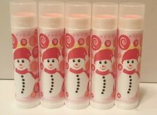 Lot of 5 Avon Sweet Shoppe Lip Balm Strawberry Christmas Holidays Chapstick NOS