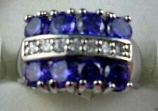 Unbranded Amethyst White Gold Filled Fashion Rings