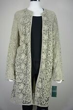 Ralph Lauren Thora Lace Womens Large L Ivory Crochet Floral Coat Jacket NWT New