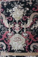 "French Antique c1870 Roses & Scrolls HomeDec Fabric Sample~Rococo~18""LX15""W~"