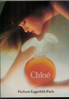PUBLICITÉ DE PRESSE 1989 CHLOÉ PARFUMS LAGERFELD - PARIS