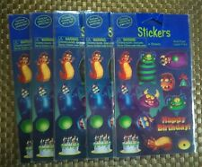 Creative Converting Happy Birthday Monster Stickers 5 pack  the 4 sheets