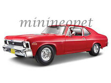 MAISTO 31132 1970 CHEVROLET NOVA SS COUPE 1/18 DIECAST MODEL CAR RED