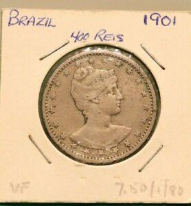 1901 BRASIL 400 REIS COIN