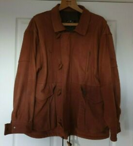 MEN's BROWN IMPERIAL LEATHER JACKET AUSTRALIAN MADE SIZE M/L PRE-OWNED