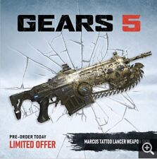 Gears of War 5 Exclusive Marcus Tattoo Lancer Weapon Skin DLC Key Code XBOX ONE