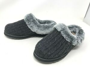 Womens Skechers Bobs (31204) Keepsakes Ice Angel Gray Fuzzy Slippers (421o)