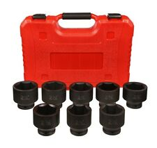 "8 Pc Add On 3/4"" Drive Jumbo Impact Socket Set Tools Garage Shop"