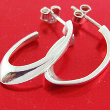 Silver Ladies Italian Stud Drop Design Earrings Genuine Real 925 Solid Sterling