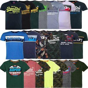 Superdry Mens T Shirts T-Shirt TShirt Core Logo Cotton Crew Tops Tee Shirt Size