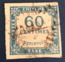 France Taxe N° 9 60 C Bleu Nuance Foncée. Obli TB Choix Cote 150€