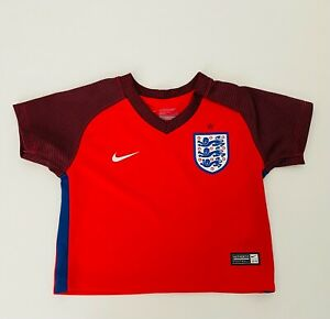 England Baby Shirt 3-6  Months Football Shirt away Red Nike Official product