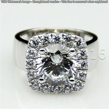 Sparkling 1.85 CT Off White Moissanite Wedding Ring 925 Silver Ring