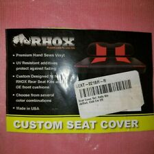 Rhox custom seat cover club car DS red AND black