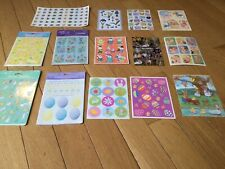 Vintage Easter Sticker Lot D Hallmark Glittery Decorate Eggs Bunny Rabbit Spring