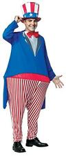Uncle Sam Hoopster Halloween Costume Mens Adult Funny Animated Cartoon Jumpsuit