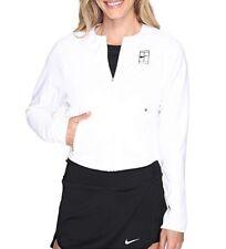 Nike nikecourt de punto para mujer chaqueta de calentamiento tenis 831203-100 Blanco Talla L Nuevo