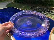 """Rosemary """"Dutch Rose"""" Pink 12"""" Oval Platter Federal Depression Glass RARE NICE"""