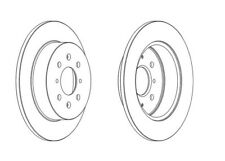 2x Brand New Ferodo Rear Brake Disc - DDF1466C - 12 Month Warranty!