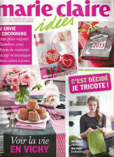 "REVUE MAGAZINE LOISIR CREATIF "" MARIE CLAIRE IDEES "" N°94 JE TRICOTE , COCOONING"