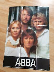 Sehr großes ABBA original Riesenposter! Von 1981aus Schweden ca. 100X66 cm!
