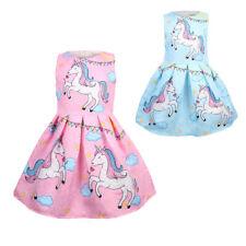 Bebé Niñas Vestido Tutú De Unicornio sin mangas Vestido de Disfraz de Fiesta de Cumpleaños Infantil Disfraz