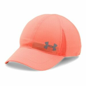 NEW Under Armour Youth Girls Heatgear Reflective Shadow Running Cap-Peach OSFA