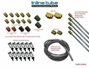 """1973-1981 GM Cars 3/16"""" Brake Line Set 30' Universal Kit Street Rod Custom SAE"""