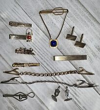 Lot of Vintage Tie Clips and Cufflinks