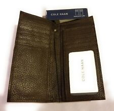 Cole Haan Breast Pocket Leather Wallet Chocolate NWT