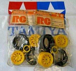 NEW 4 x Unused 1/12 Tamiya Porsche 959 Slick Tires Tyres + Rims 50309