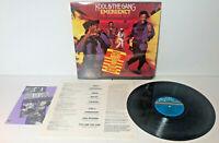KOOL & THE GANG Emergency 1984 LP De-Lite Records 822 943-1 M-1 w/Hype Sticker