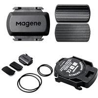No Magnet ANT+ & Bluetooth Wireless Speed & Cadence Sensor for Garmin Bryton