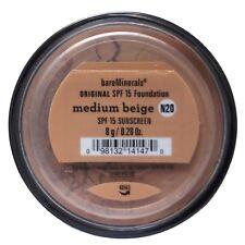 2 X Bare Minerals Original SPF 15 Loose Powder Foundation 8g bareMinerals Light (w15) Medium Beige Matte