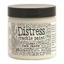 Tim Holtz Distress Crackle Paint 4 oz Jar, Clear Rock Candy New