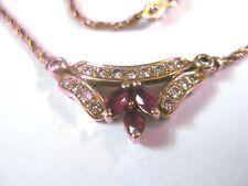 Collier Gold 750 mit Rubinen und Brillianten
