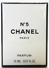 VINTAGE CHANEL NO 5 #5 PARFUM PURE PERFUME 0.47OZ 14ML NEW IN BOX SEALED