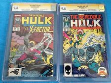 Incredible Hulk #336-337 set - Marvel - CGC SS 9.8 9.6 - Signed by Peter David