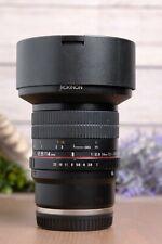 Samyang Rokinon 14mm f/2.8 ED AS IF UMC Wide Angle Lens for Sony E-Mount - Black