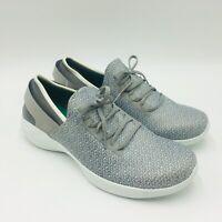 Skechers Ladies' YOU Knit Slip-on Walking Shoes Sneakers Grey, Pick A Size