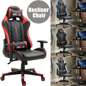 Sports Racing Gaming Computer Car Leather Office Chair Ergonomic Recliner