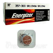 1 x Energizer Silver Oxide 357/303 battery 1.55V D357 V357 SR44 Watch