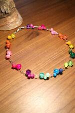Neu unikat Regenbogen Polariskette bunt Halskette Polaris perlen kette Glas