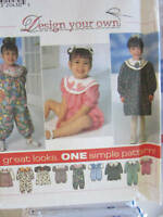 UNCUT Vintage Simplicity SEWING Pattern Baby Toddler Jumpsuit Dress Romper 7679