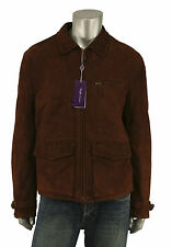 Ralph Lauren Purple Label Suede Leather Bomber Jacket L New $3995
