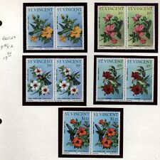 St. Vincent Topical Collection Flora,Marine,Birds, Butterflies Mint Never Hinged